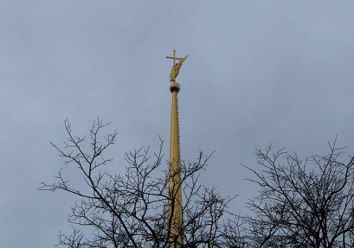 Шпиль Петропавловского собора, город Санкт-Петербург, Россия