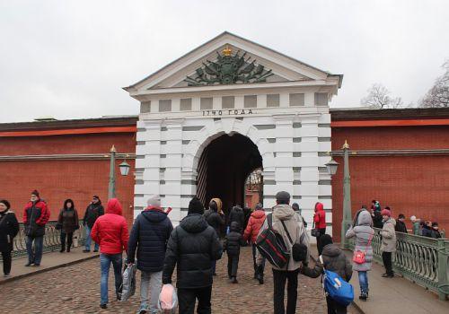 Иоанновские ворота, Петропавловская крепость, город Санкт-Петербург, Россия